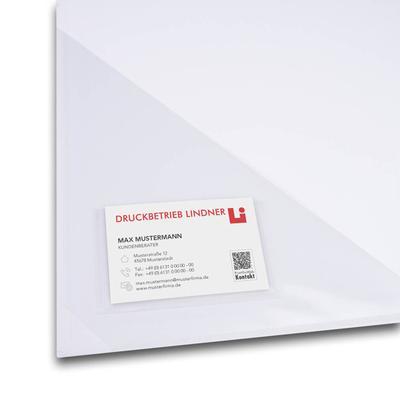 Nahaufnahme Dreiecksfolie mit Visitenkartenfach