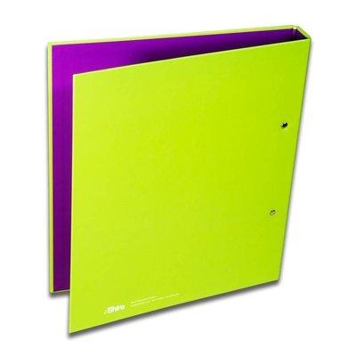 Neongrüner Ordner hinten